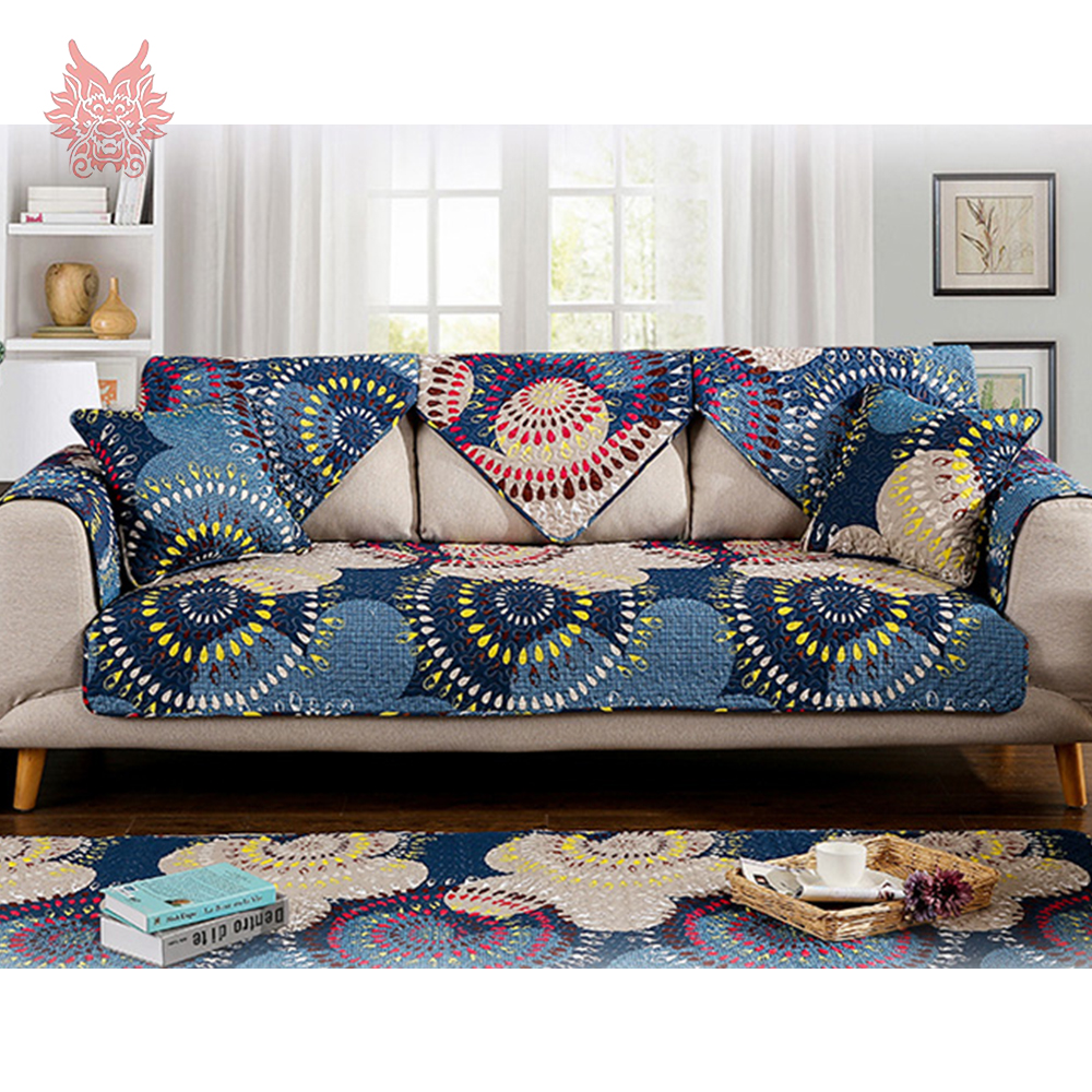 Delicieux Pastoral Style Boho Floral Print Quilted Sofa Cover Pure Cotton Slipcovers  Anti Slip Sofa Covers Canape For Home Decor SP4207 In Sofa Cover From Home  ...