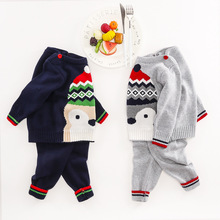 Baby Clothes Sweater Sets Autumn Girls Clothing Christmas Suit Toddler Cothing Boy Clothes Penguin Clothing for Newborns Girl