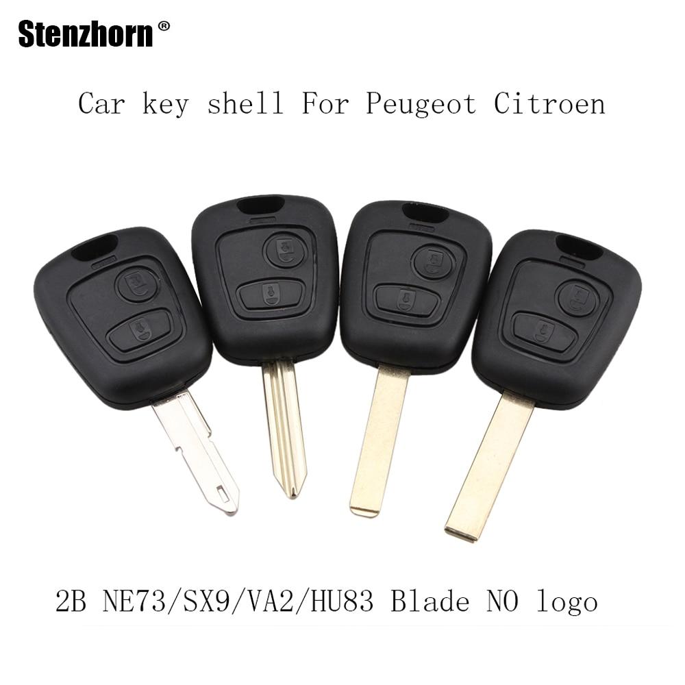 цена Stenzhorn 2 Buttons For Citroen C1 C4 For Peugeot 106 107 207 307 407 206 306 406 Replacement Remote Key Case Shell NO logo онлайн в 2017 году