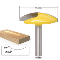 1pc 8mm Shank Small Bowl Router Bit 1 8 Radius 1 1 2 Wide For Woodworking