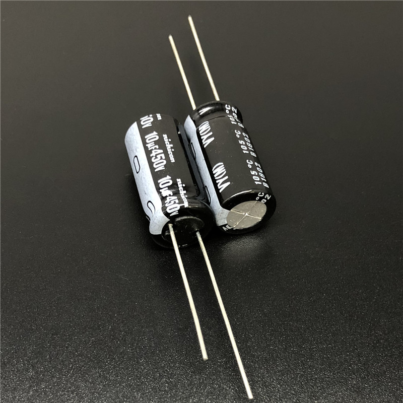 10Pcs/100Pcs 10uF 450V NICHICON VY Series 10x20mm Wide Temperature Range 450V10uF Aluminum Electrolytic Capacitor