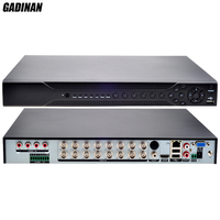 GADINAN AHDH 1080P 16 Channel Home DVR Recorder 16CH 2 SATA HDD Port Hybrid NVR DVR