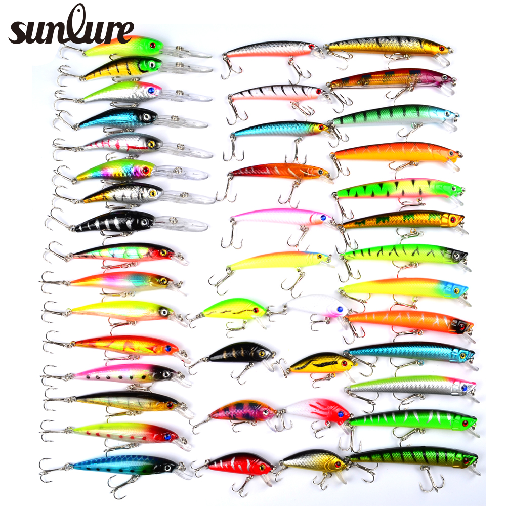 Buy hot 43pcs lot fishing lure set mixed for Types of fishing lures