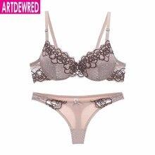 high-end brand New Arrival lace bra set push up underwear set women pa