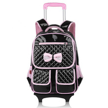 2016 new Free delivery Male lady towbar faculty bag trolley baggage journey backpack sliding faculty bag belt wheels faculty bag