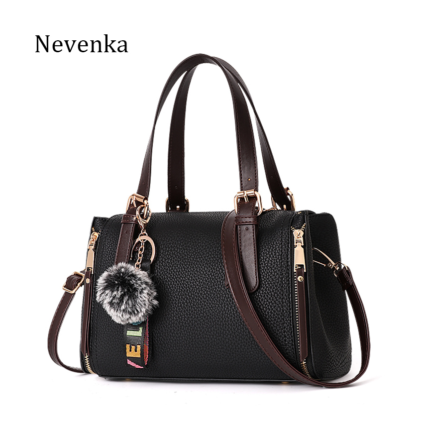 NEVENKA Women Handbag Female Fashion Bag Women's Solid Color Zipper Design Shoulder Bag Lady Casual Daily Bags Ladies Tote Bao fashion rivets and solid color design women s shoulder bag