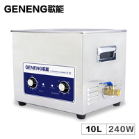 Ultrasonic Cleaner Bath generator Washer 10L Circuit Board Electronic Car Parts Oil Mold Glassware Lab Instrument Time Heater