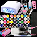 BTT-141 Free Shipping New Pro 36W UV GEL White Lamp & 36 Color UV Gel Nail Art Tools Sets Kits