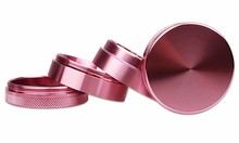 50mm 4levels Grinder Pink Color Girls Love  Aluminium Herb Tobacco Smoke Portable Crusher Accessories