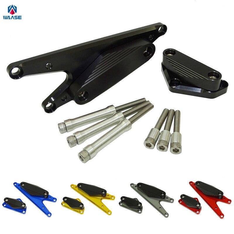 waase Motorcycle Engine Stator Starter Cover Guard Crash Pad Sliders Protectior For Suzuki Bandit 650 GSF650 2007 2008 2009-2017 waase left