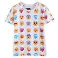 Hot moda emoji emoticonos estilo caliente camiseta camiseta del verano ropa divertida unisex de las mujeres/de los hombres top tees camiseta clothing ventas al por mayor