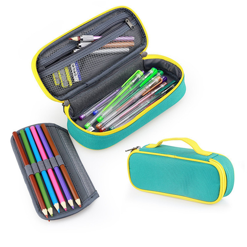 купить Cute Kawaii School Pencil Case Creative Removable Large Big Penal Pencilcase For Kids Boys Girls Pen Bag Box Stationery Pouch по цене 618.1 рублей