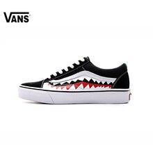 Оригинальный Новое поступление для мужчин и женщин классические Vans X Bape Sharktooth Custom Bape обувь для скейтбординга кроссовки холст VN0AY8Z7BPW