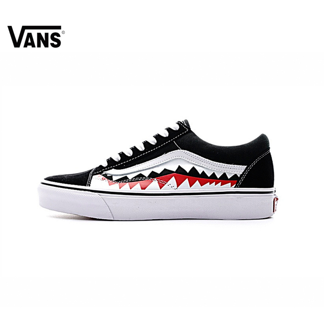 a3aa56856709 Original New Arrival Men s   Women s Classic Vans X Bape Sharktooth Custom  Bape Skateboarding Shoes Sneakers Canvas VN0AY8Z7BPW