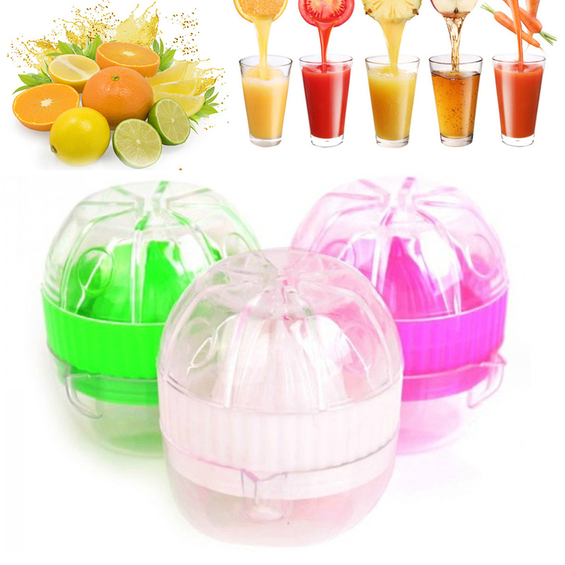 Portable Manual Lemon Juicer Mini Fruit Hand Juice Bottle Small Fruit Squeezer Machine Extractor Hand Press Cup Kitchen Utensil