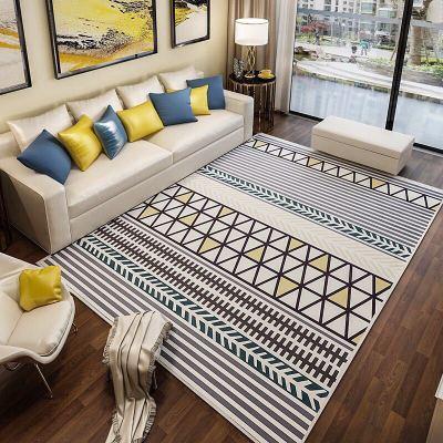 Tapis rond géométrique européen pour salon tapis de chambre d'enfants et tapis tapis d'ordinateur tapis de sol tapis de vestiaire