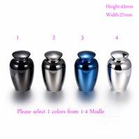NEW Arrive 43 27mm Funeral Urns High Grade 316L Stainless Steel Human Pet Bone Ash Holder