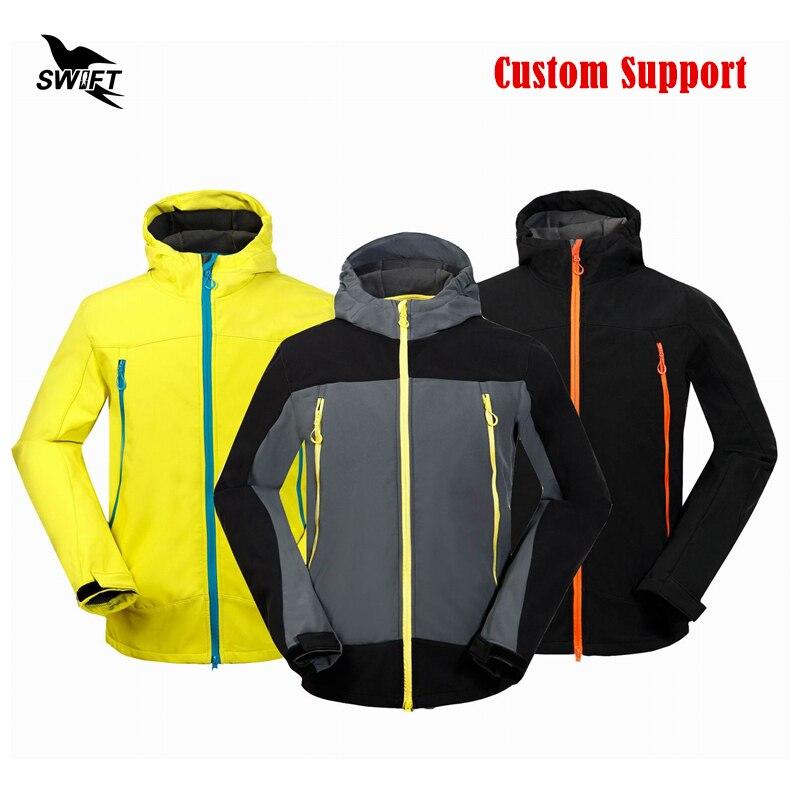New Custom Tech Fleece Thermal Softshell Jacket Men 2016 Waterproof PAT Hiking Clothing Ski Climbing Hunting Fishing Clothes стоимость
