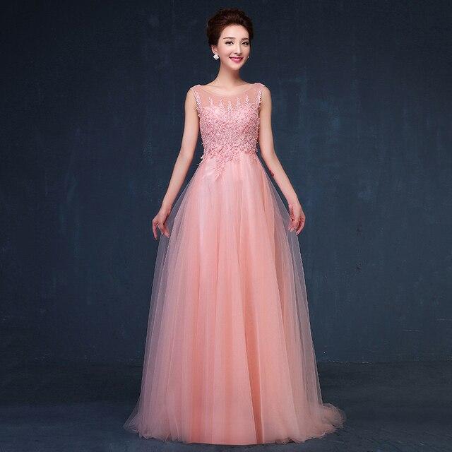 2016 New Lace Evening Dress Night Party Dresses Cocktail Gowns Plus Size  Vestido De Festa Longo Women s Clothing Pearl Long d8af1fa4d
