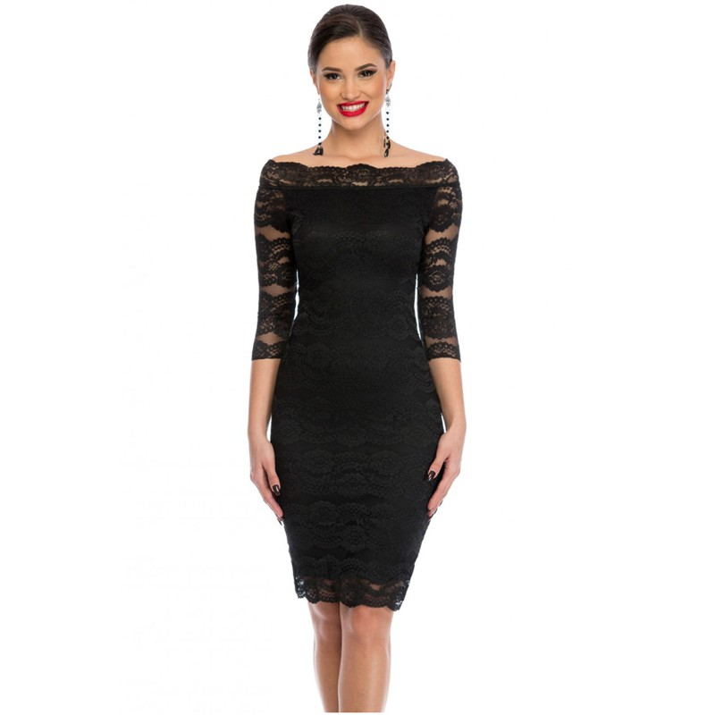 Zkess Womens Elegant Delicate Floral Lace Dress Casual Party Bodycon Special Occasion Bridemaid Mother of Bride Dress LC61291 6