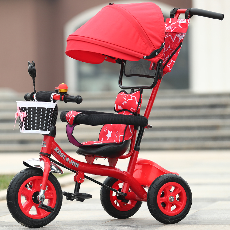Child tricycle trolley 1 - 3 - 5 years old bike baby bicycle baby car children tricycle folding baby carriage baby bike 1 3 5 year old child bike baby trolley