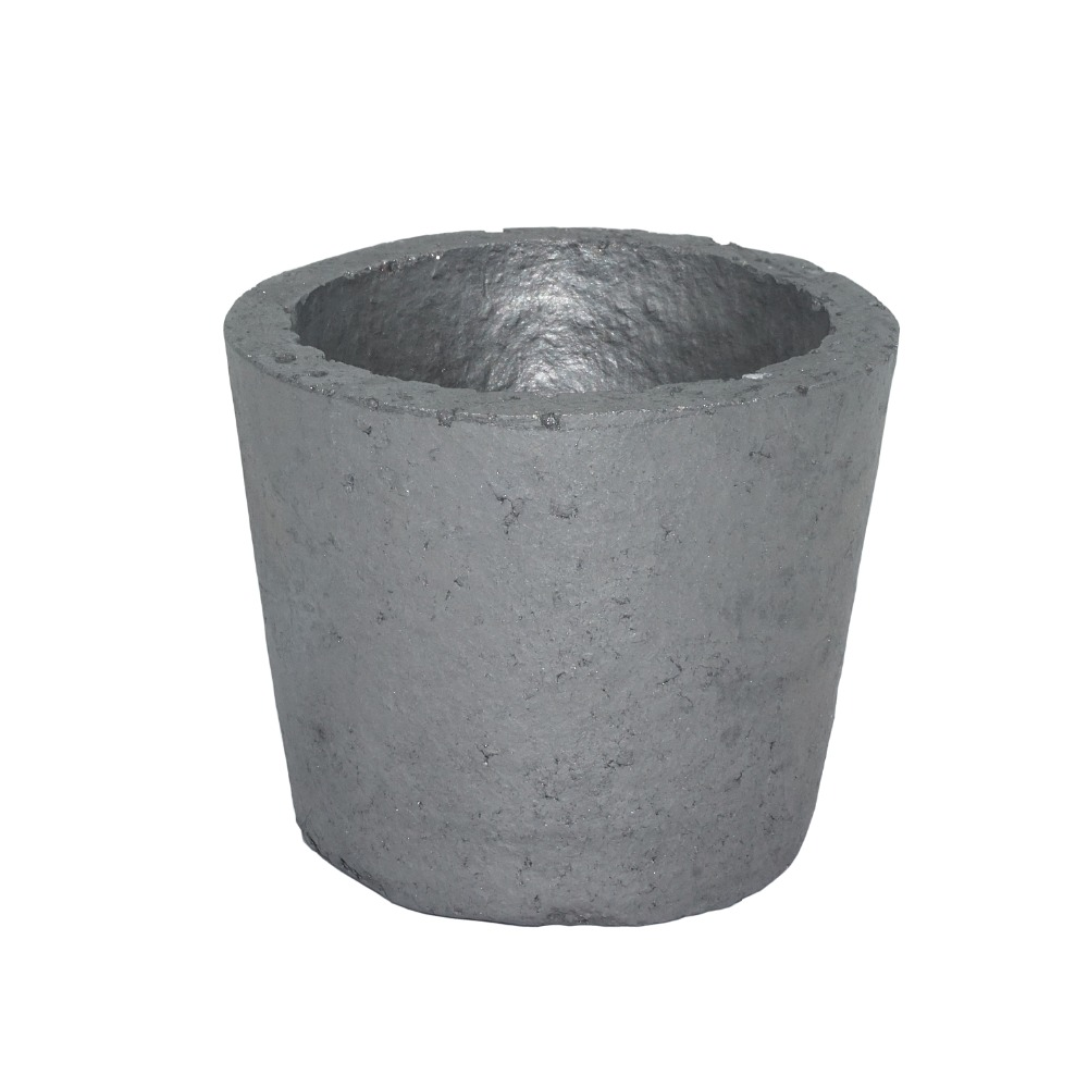2# Thicken Foundry Silicon Carbide Graphite Crucibles Cup Furnace Torch Melting Casting Refining Gold Silver Copper Aluminum