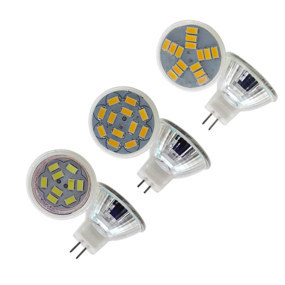 Nueva lámpara Led de cristal de alta potencia MR11 3W 5W 7W CA/CC 12V regulable Led foco blanco cálido GU4 Base LED Bombilla