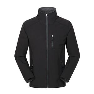 Image 4 - Custom Logo Design Printed Mens Autumn Jackets Waterproof Windproof Coat Zipper Softshell Degisn Outerwear Tops