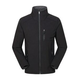 Image 4 - Özel Logo tasarım baskılı erkek sonbahar ceketler su geçirmez rüzgar geçirmez ceket fermuar Softshell tasarım kabanlar Tops