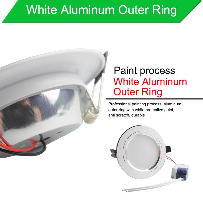 LED Downlight արծաթագույն սպիտակ - Ներքին լուսավորություն - Լուսանկար 3
