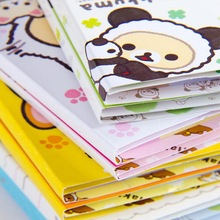 12 stks/partij Cartoon Rilakkuma Hoed 6 Vouwen Memo Pad N Keer Memoblokjes Memo Notepad Bladwijzer Gift Briefpapier