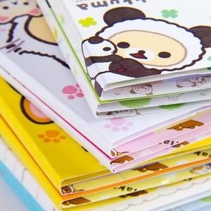 Image 1 - 12 sztuk/partia Cartoon Rilakkuma kapelusz 6 składane Memo Pad N razy karteczki Memo notatnik zakładki prezent biurowe