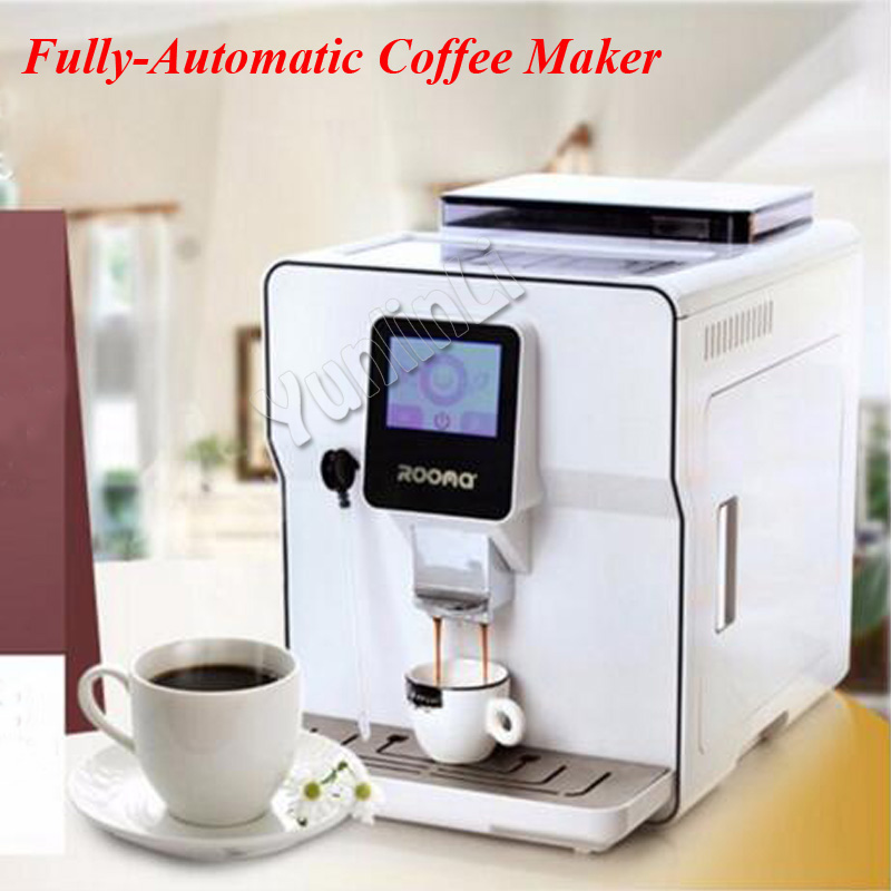 1.7L A8 Fully Automatic Coffee Maker Cappucinno/Latte/Espresso Coffee Machine Cafe Machine with Touch Screen 220vfully automatic cappucinno latte espresso coffee machine cafe machine factory directly sale top quality free shipping