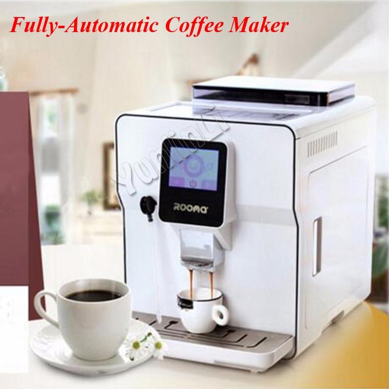 1.7L A8 Fully Automatic Coffee Maker Cappucinno/Latte/Espresso Coffee Machine Cafe Machine with Touch Screen