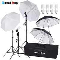 MOUNTDOG 33 Photography Umbrella Lighting Kit Professional Photo Video Portrait Studio Day Light Umbrella Continuous Lighting