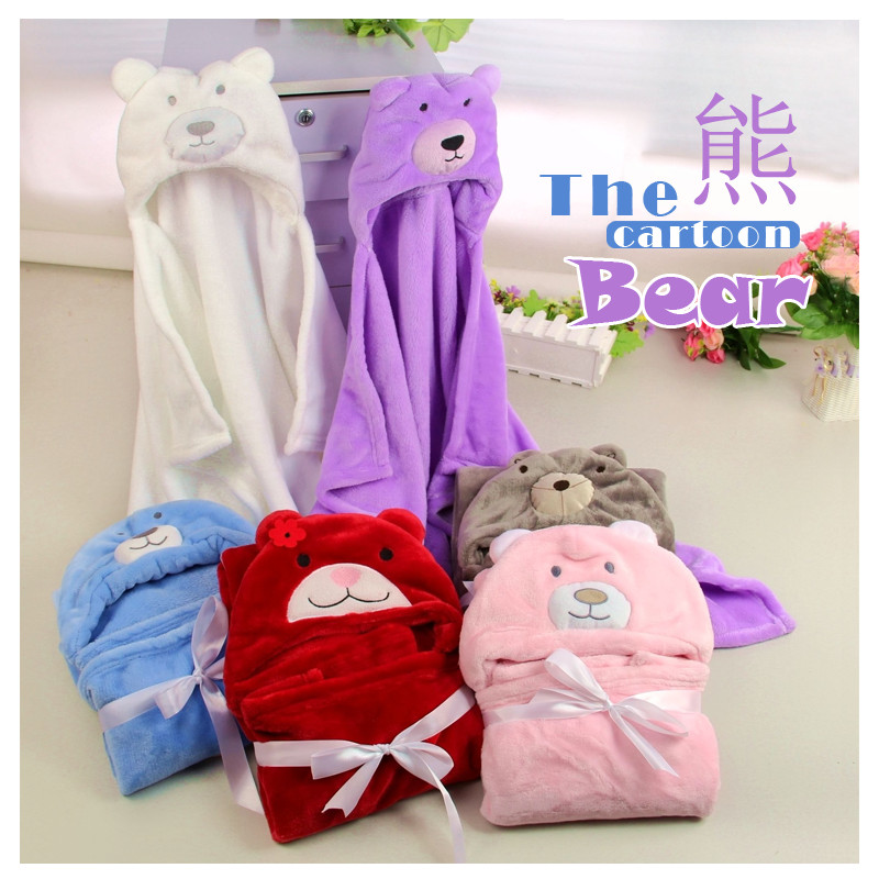 19styles Cartoon 3d Baby Blanket Bebe Animal Head Blanket Newborn