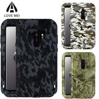 Love Mei Camo Cover For Samsung Galaxy S9 Plus Case TPU Metal Capa Heavy Duty Armor