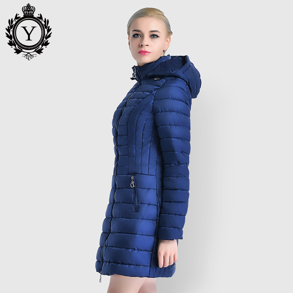 Quilted Down Cotton Padded Winter Jackets and Coats Women Parkas Long Thicken Hooded Slim Warm Coat