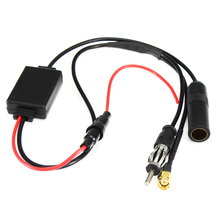 FM Antenna Signal Amp Car Radio Booster 88-108MHz Amplifier Universal Auto For DAB Digital Enhancement