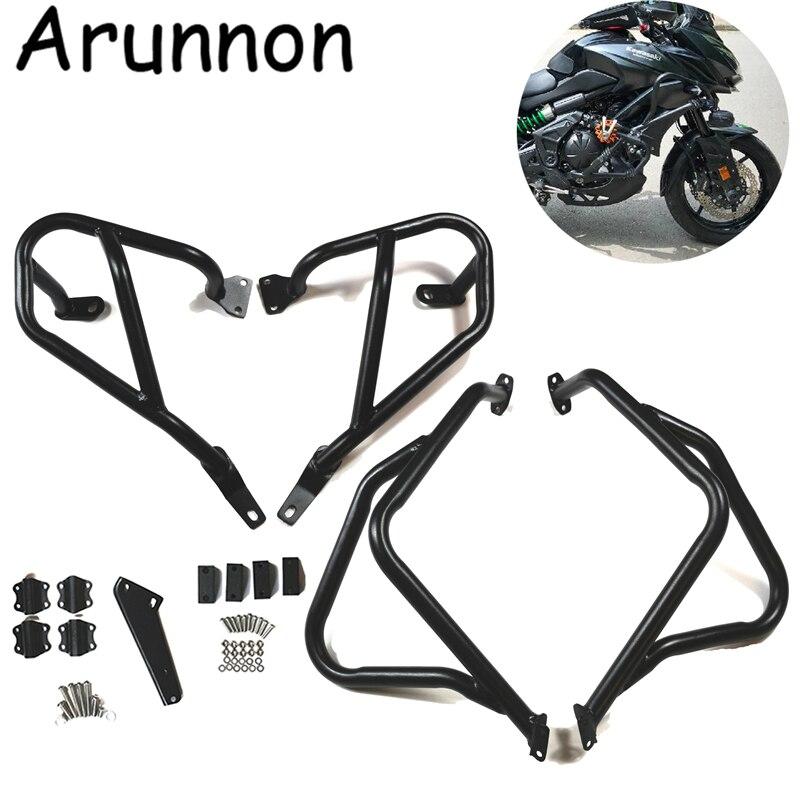 Arunnon Motorcycle Engine Bumper Guard Crash Bars Protector Steel For KAWASAKI Versys 650 KLE650 Versys650 2015 2016 2017 2018