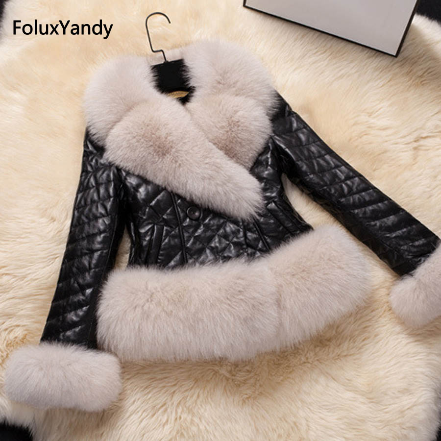 5 XL Plus Size Faux Fur Coat for Women Casual Warm Thick Winter Slim Short Coats Black KCXYJ08