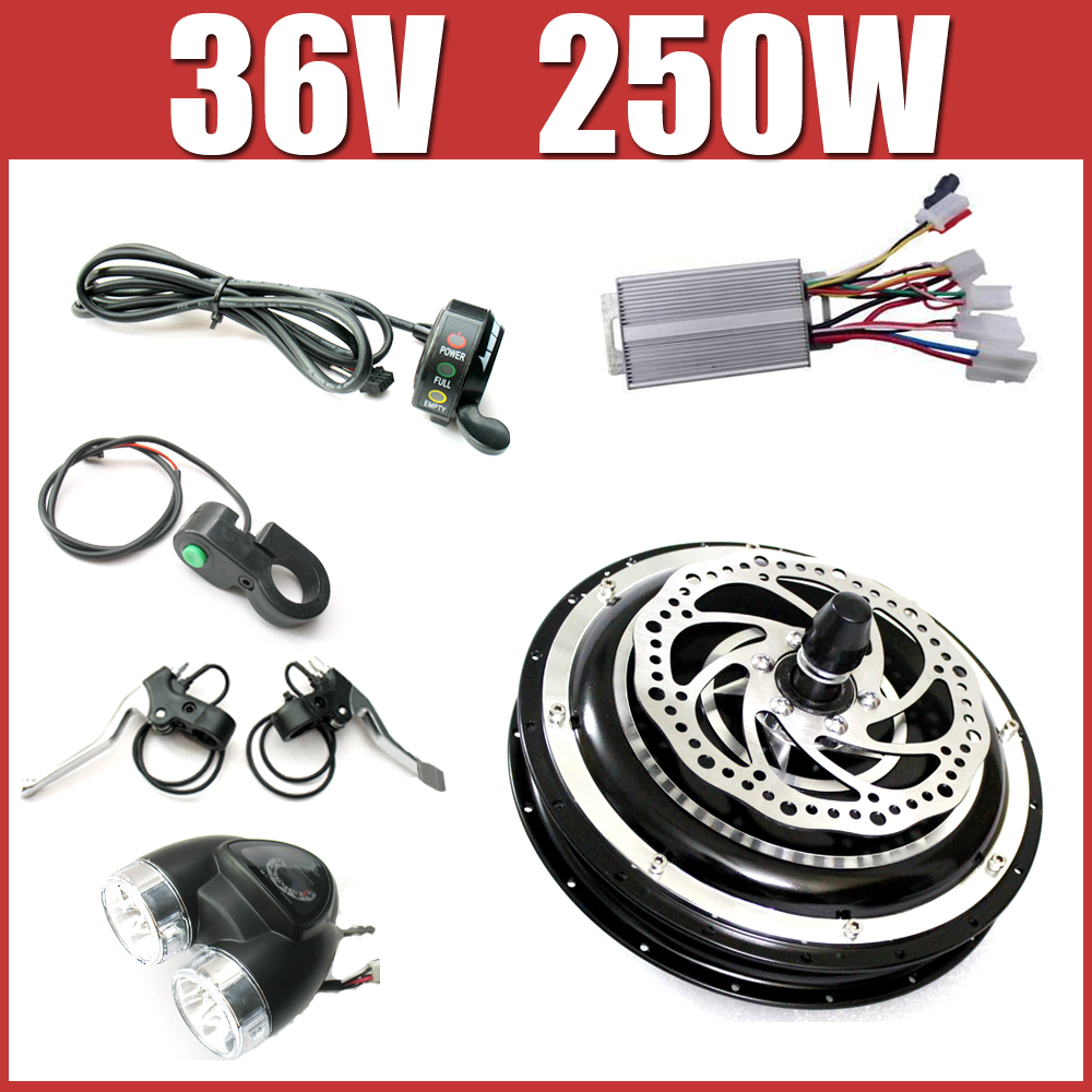 36V 250W Electric Bike Disc brake kit ,DC hub motor conversion kits ,ebike kits ,Front wheel or rear wheel 120005165 chosen aluminum mountain bike hubs set wheel hub front and rear skewers quick releas disc brake hub 4 bearings 90 ring 32 hole