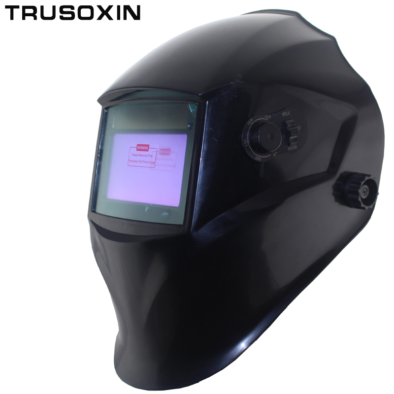 Out adjust Big view 4 arc sensor grinding DIN5-DIN13 Solar auto darkening TIG MIG MMA welding mask/helmet/welder cap/face mask din7 din12 shading area solar auto darkening welding helmet protection face mask welder cap for zx7 tig mig welding machine