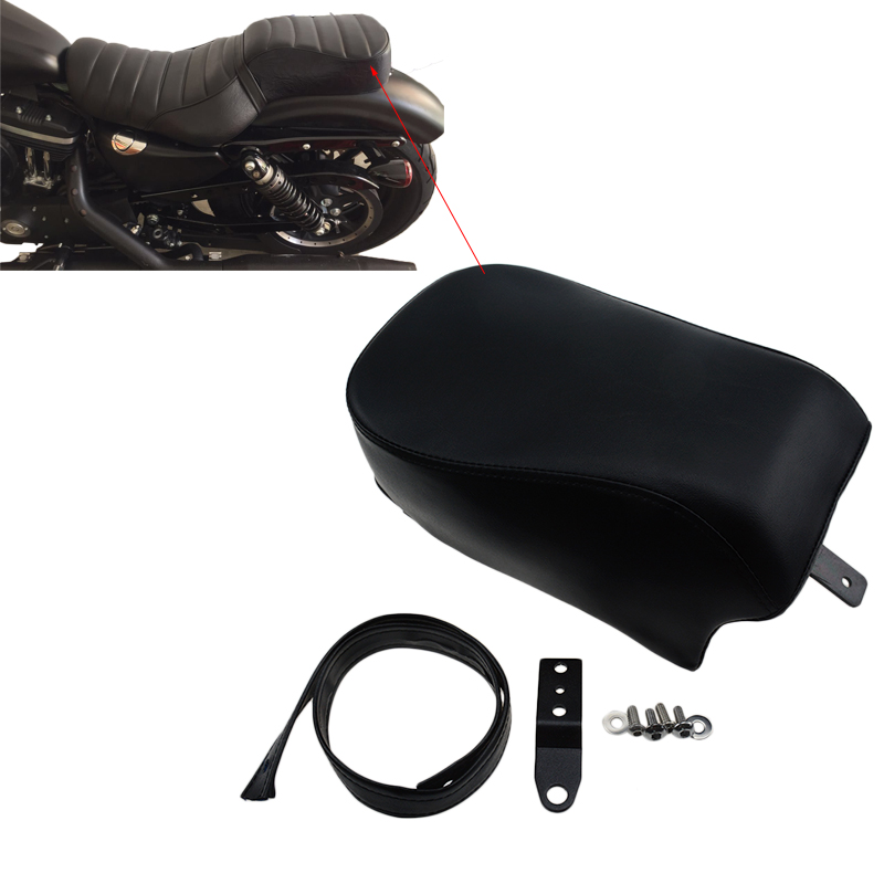 New Motorcycle Black Rear Passenger Seat For Harley Sportster Forty Eight Seventy Two XL 1200X V 48 16-17