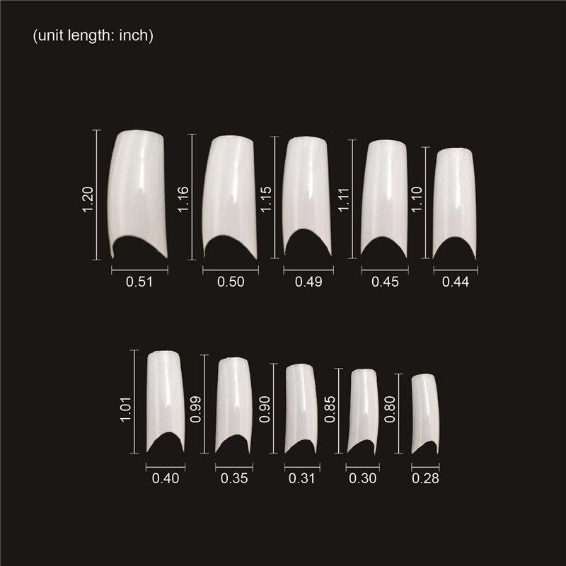 500 stks Franse Manicure Tips 10 Maten Professionele Nail Art Tip - Nagel kunst - Foto 6