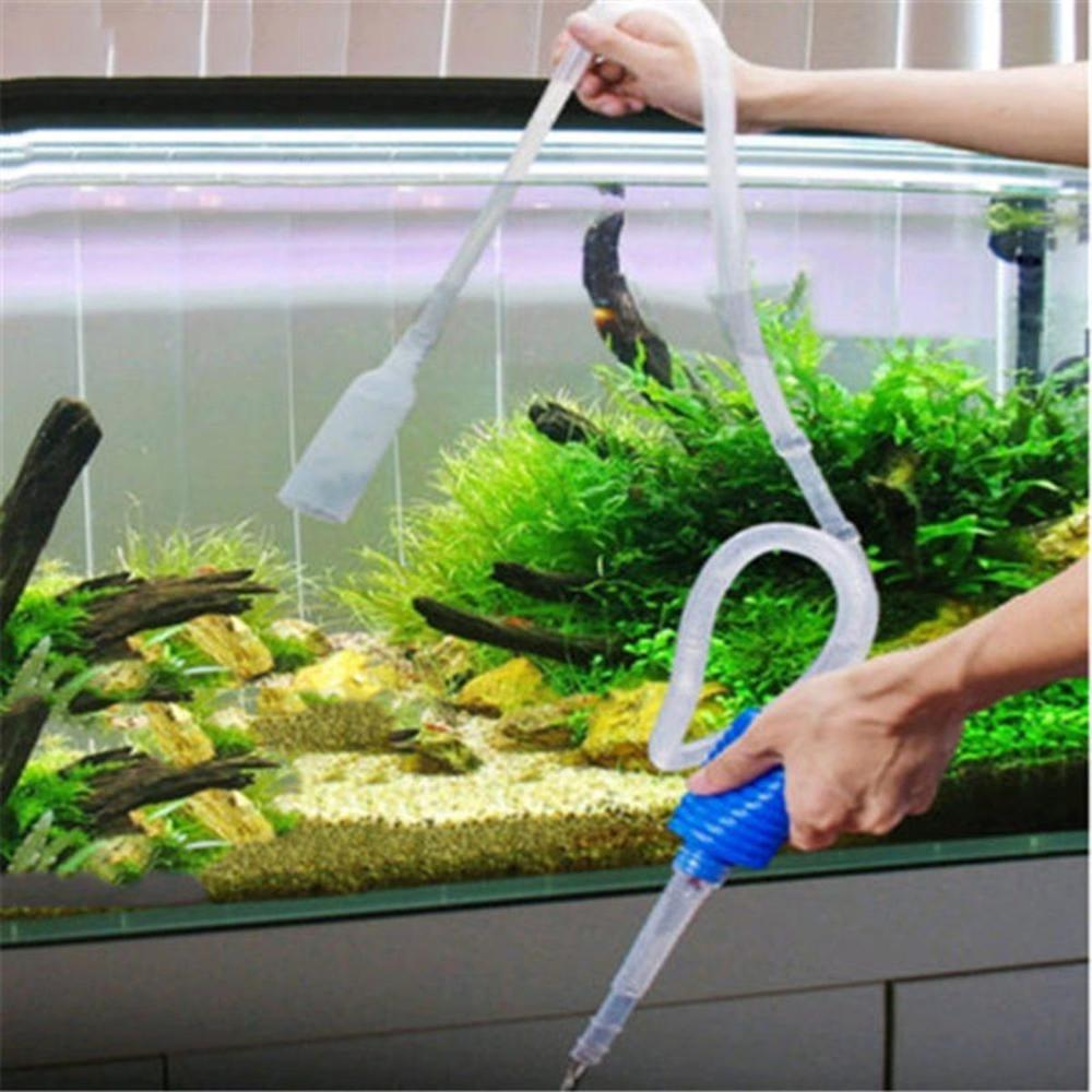 Aquarium Fish Tank Cleaning Tool Aquarium Vacuum Water Changer Fish Tank Cleaner Siphon Pump Manual Fish Tank Pump Filter