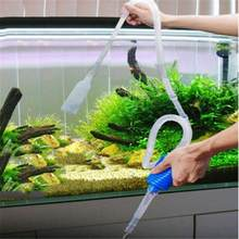 Aquarium Fish Tank Cleaning Tool Aquarium Vacuum Water Changer Fish Tank Cleaner Siphon Pump Manual Fish Tank Pump Filter(China)