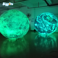 Planets globe balloon giant led light inflatable earth for events