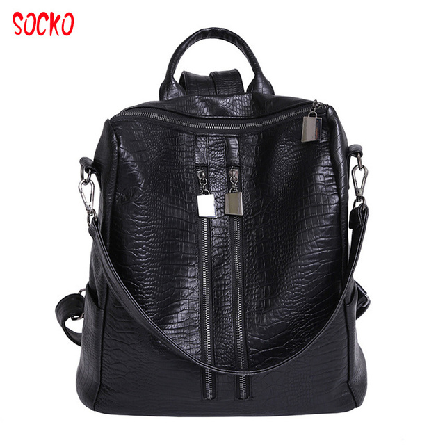 abe29b5a888 Women Bag Shoulder Bag 2018 New Fashion Korean College Backpack Washing PU  Leather Backpack All-match Female Hot Z27