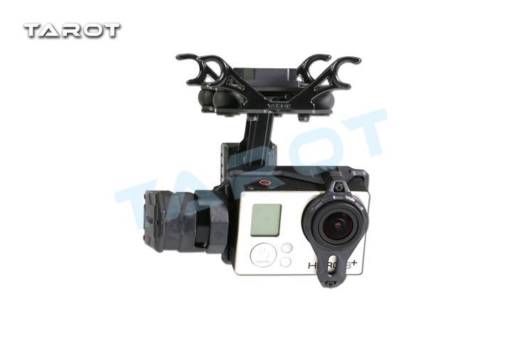 Tarot T2-2D 2 Axis Brushless Gimbal For Gopro Hero 4/3+/3 TL2D01 FPV Gimbal Camera Holder Parts F17383 fpv 3 axis cnc metal brushless gimbal with controller for dji phantom camera drone for gopro 3 4 action sport camera only 180g